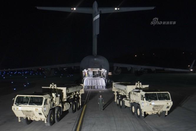 Từ ngày 6/3/2017, Mỹ và Hàn Quốc đã bắt đầu triển khai hệ thống phòng thủ tên lửa THAAD ở Hàn Quốc. Ảnh: Sina