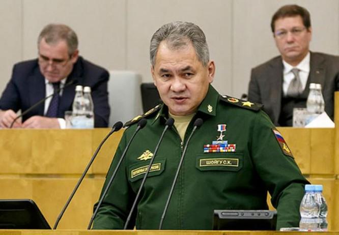 Bộ trưởng Quốc phòng Nga Sergei Shoigu (ảnh tư liệu)