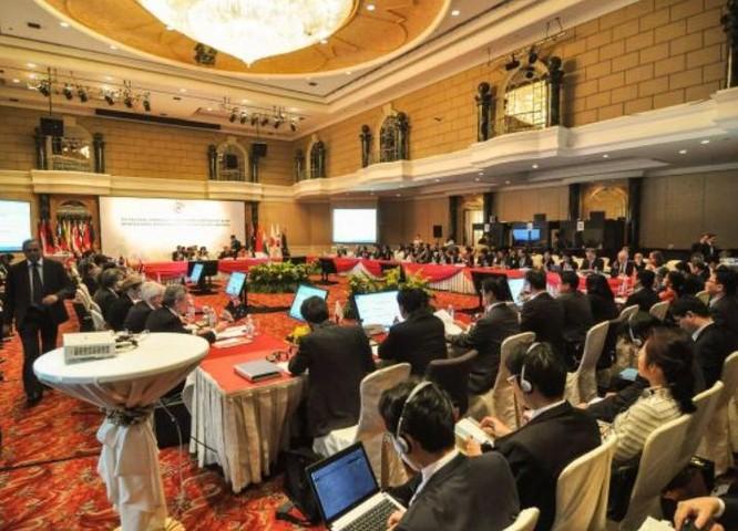 Hội nghị cấp Bộ trưởng Hiệp định quan hệ đối tác kinh tế toàn diện khu vực (RCEP) ở Malaysia ngày 13/7/2015. Ảnh: Cankao