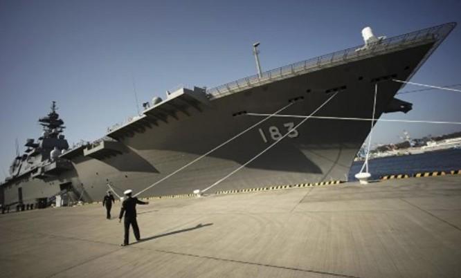 Tàu sân bay trực thăng lớp Izumo Lực lượng Phòng vệ Biển Nhật Bản. Ảnh: People.com.cn