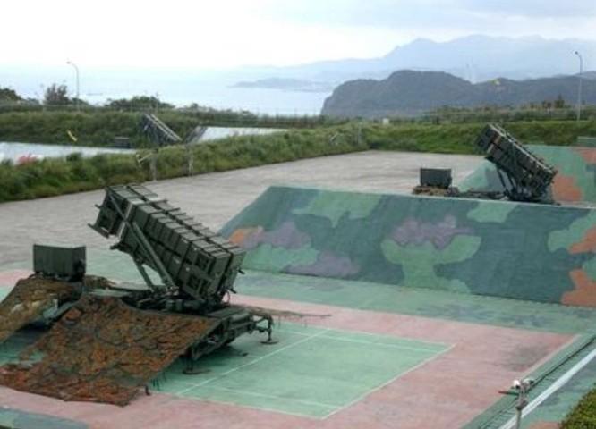 Tên lửa đánh chặn Patriot-3 Đài Loan. Ảnh: Taiwannews