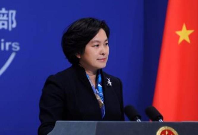 Người phát ngôn Bộ Ngoại giao Trung Quốc Hoa Xuân Oánh. Ảnh: Tin tức Chiết Giang.