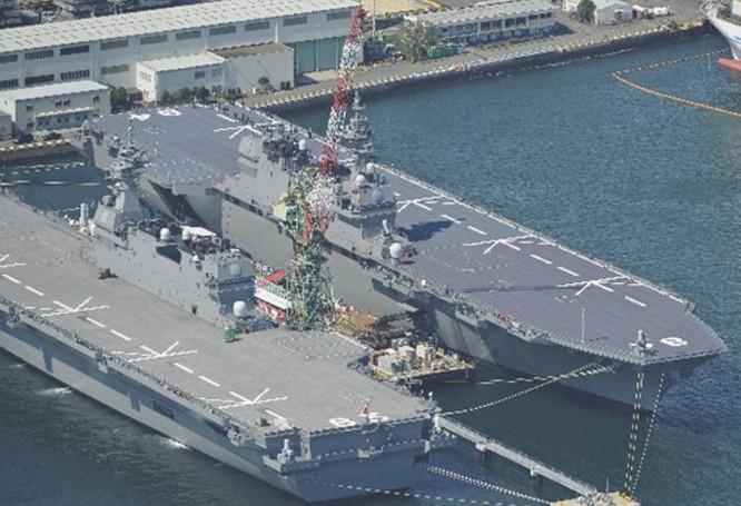 Tàu sân bay trực thăng lớp Izumo Nhật Bản. Ảnh: Nikkei