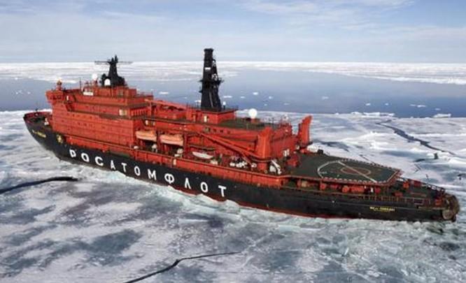 Tàu phá băng Nga. Ảnh: Sina