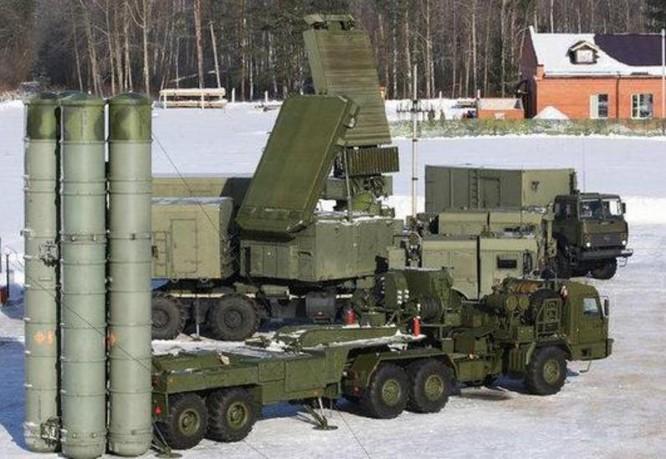 Hệ thống tên lửa phòng không tiên tiến S-400 Nga. Ảnh: Sina