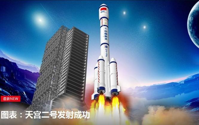 Trung Quốc phóng tàu vũ trụ Thiên Cung-2 ngày 15/9/2016. Ảnh: Tân Hoa xã