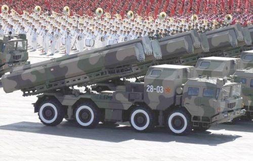 Tên lửa hành trình của quân đội Trung Quốc (ảnh tư liệu)