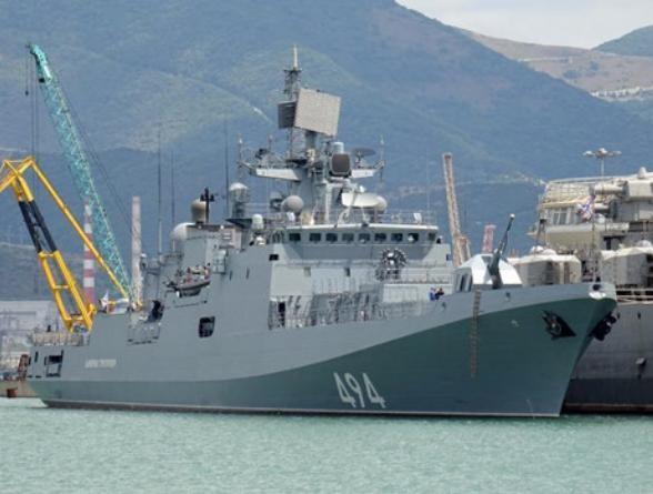 Ngày 7/4/2017, tàu khu trục Đô đốc Grigorovich RFS-494 hải quân Nga đã