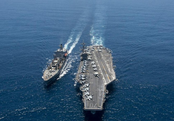 Trên tàu sân bay USS Carl Vinson, Hải quân Mỹ (ảnh tư liệu)