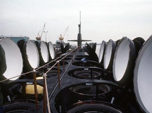 Khoang tên lửa của tàu ngầm hạt nhân lớp Ohio Hải quân Mỹ (ảnh tư liệu)