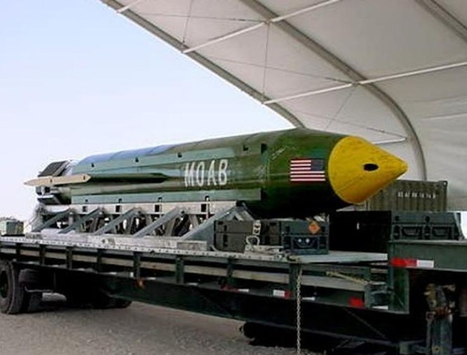 Ngày 13/4/2017, máy bay vận tải MC-130 Không quân Mỹ đã ném bom GBU-43/B vào hệ thống đường hầm của tổ chức khủng bố