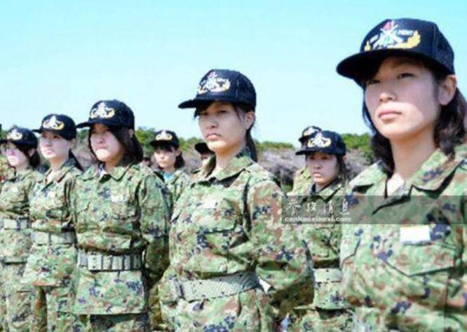Binh sĩ nữ trong Lực lượng Phòng vệ Nhật Bản. Ảnh: Cankao