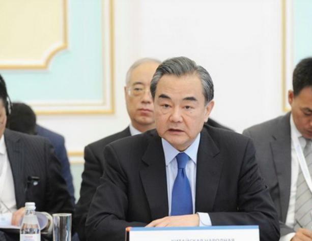 Bộ trưởng Ngoại giao Trung Quốc Vương Nghị tham dự Hội nghị Ngoại trưởng SCO ngày 21/4/2017. Ảnh: Tân Hoa xã