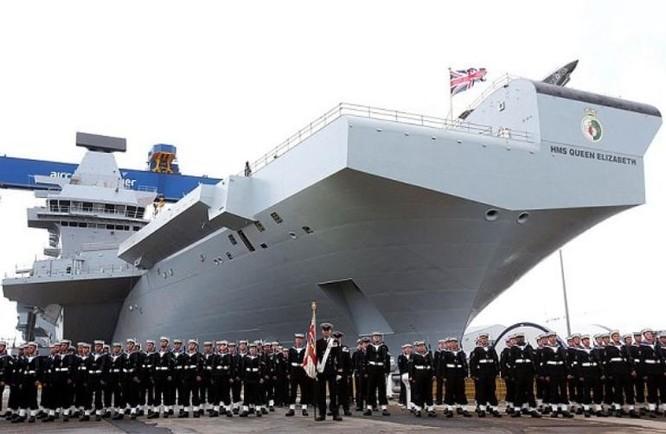 Tàu sân bay Nữ hoàng Elizabeth, Anh. Ảnh: PA/Telegraph