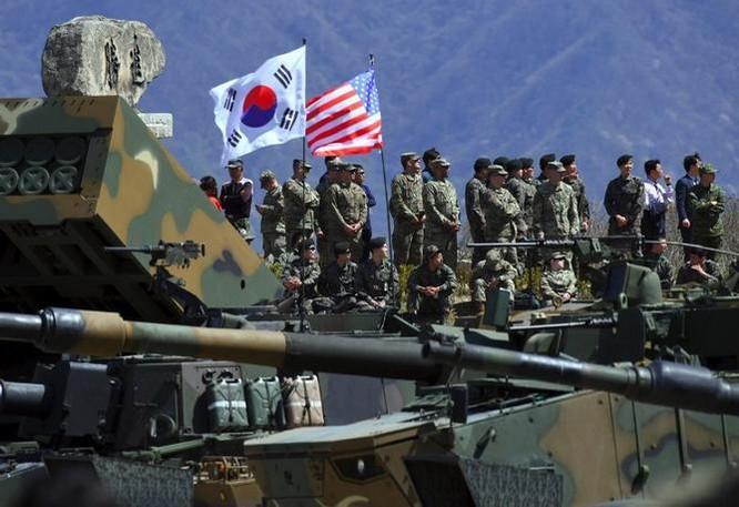 Quân đội Mỹ và Hàn Quốc tiến hành tập trận chung Foal Eagle 2017. Ảnh: AFP
