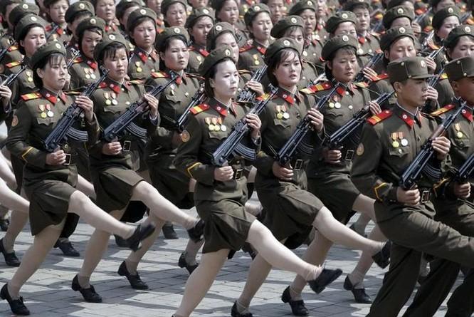 Nữ binh sĩ Triều Tiên. Ảnh: Cankao