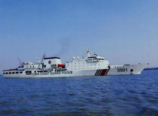 Tàu cảnh sát biển số hiệu 3901 Trung Quốc. Ảnh: Sohu