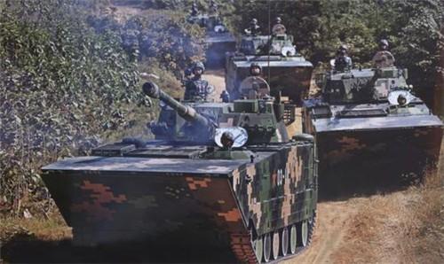 Lực lượng hải quân đánh bộ Trung Quốc. Ảnh: Eastday