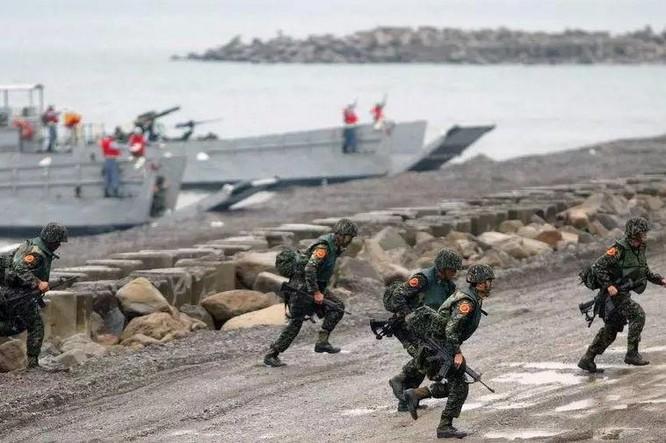 Lực lượng hải quân đánh bộ Trung Quốc. Ảnh: QQ
