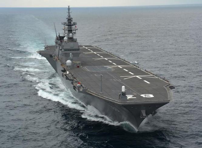 Tàu sân bay trực thăng lớp Izumo Nhật Bản. Ảnh: Sina