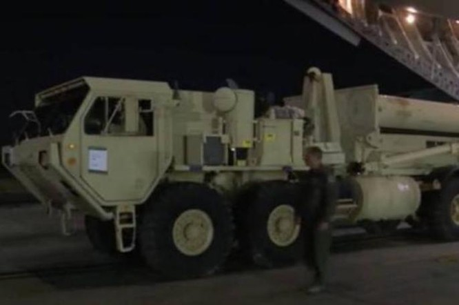 Mỹ đã triển khai THAAD ở Hàn Quốc. Ảnh: Sina