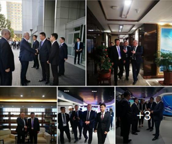 Ngày 15/5/2017, Phó Thủ tướng thứ nhất Ukraine X. Kubiv đến thăm Công ty TNHH Đầu tư ngành hàng không Thiên Kiêu. Ảnh: Sina