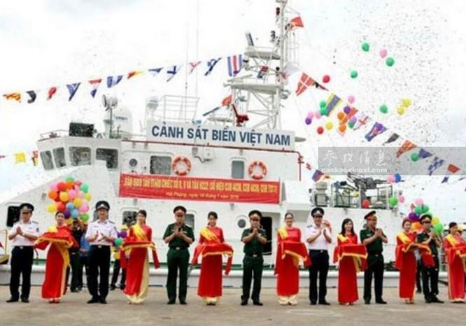 Cảnh sát biển Việt Nam nhận tàu tuần tra mới. Ảnh: Cankao