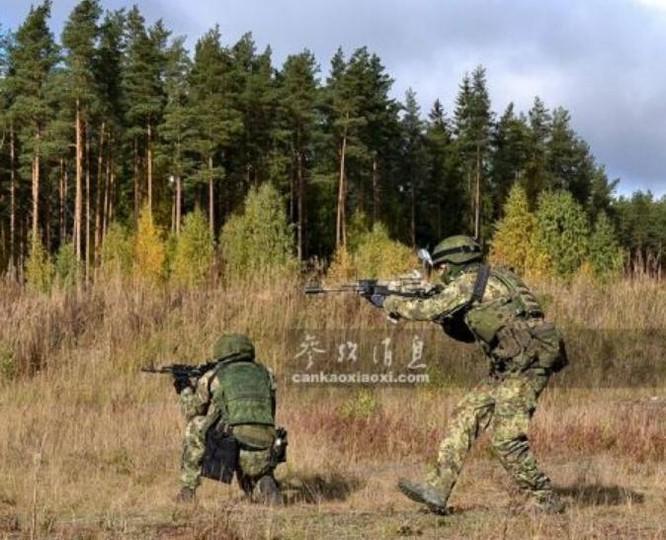 Lực lượng đặc nhiệm quân đội Nga diễn tập tác chiến. Ảnh: Cankao