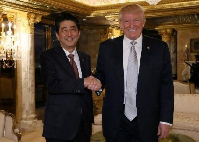 Thủ tướng Nhật Bản Shinzo Abe và Tổng thống Mỹ Donald Trump. Ảnh: The Telegraph