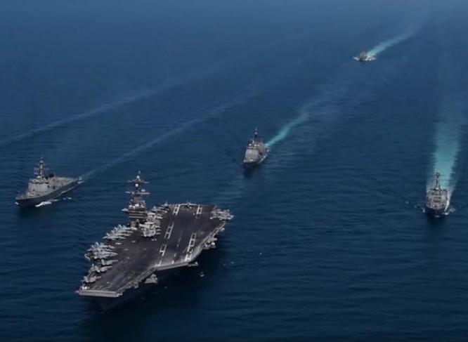Tàu sân bay USS Carl Vinson Hải quân Mỹ. Ảnh: RT