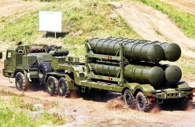 Hệ thống tên lửa phòng không S-400 Nga. Ảnh: Sina