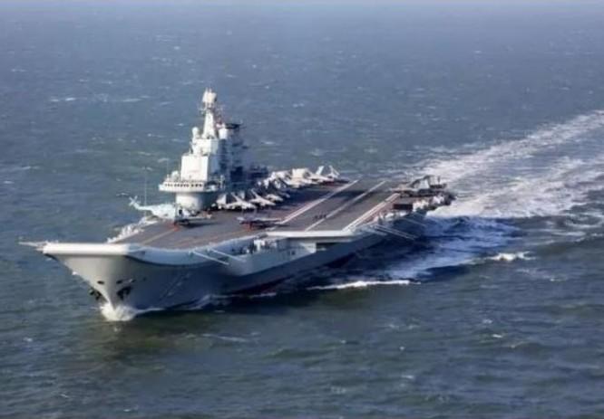 Tàu sân bay Liêu Ninh, Hải quân Trung Quốc. Ảnh: Cankao