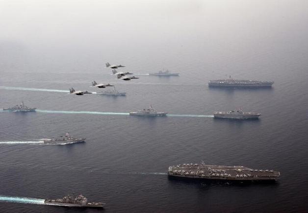 Từ ngày 1 - 3/6/2017, Mỹ và Nhật Bản tiến hành tập trận chung ở biển Nhật Bản. Ảnh: Guancha