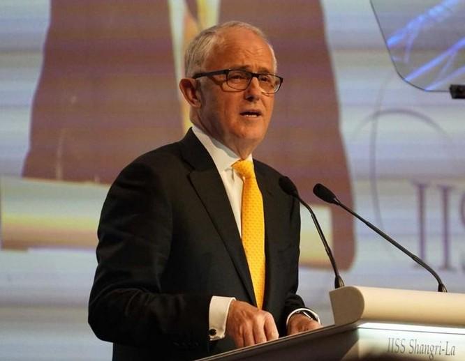 Thủ tướng Australia Malcolm Turnbull tại Đối thoại Shangri-La 2017. Ảnh: ABC