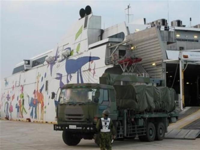 Nhật Bản triển khai hệ thống tên lửa đất đối hạm Type 12 ở đảo Miyako. Ảnh: People