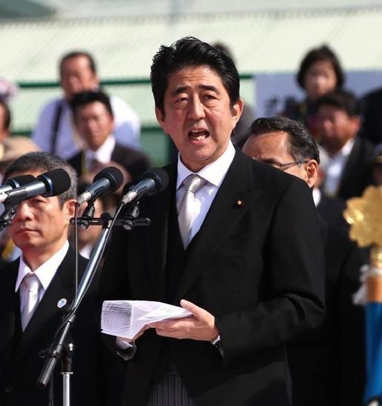 Thủ tướng Nhật Bản Shinzo Abe coi trọng tăng cường sức mạnh quân sự.