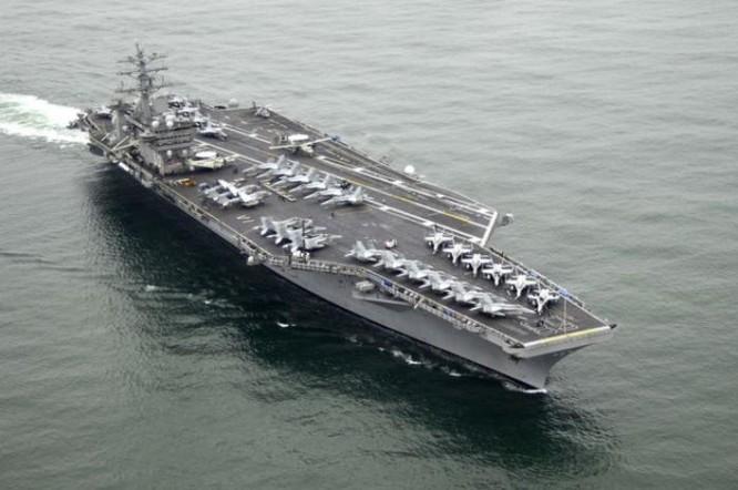 Tàu sân bay USS Nimitz CVN-68 Hải quân Mỹ sắp hiện diện trong khu vực.