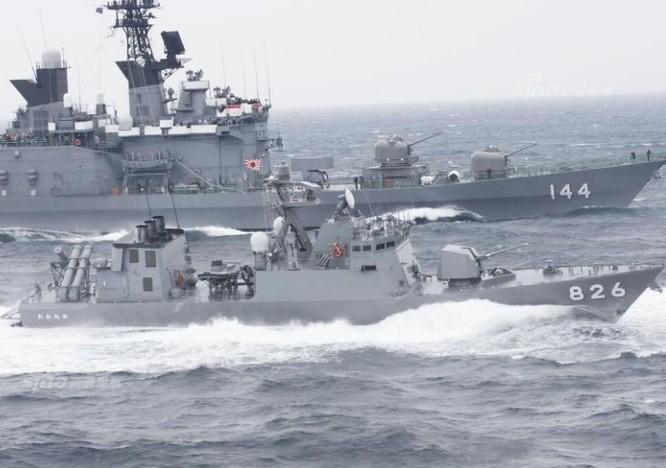 Tàu tên lửa lớp Hayabusa Lực lượng Phòng vệ Biển Nhật Bản. Ảnh: Sina