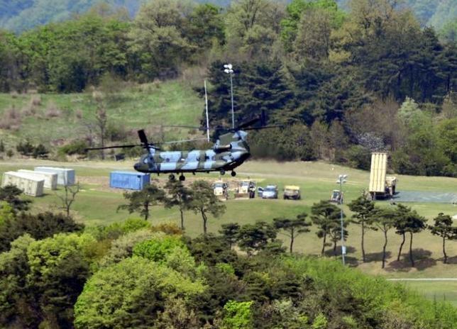Mỹ đã triển khai THAAD ở Hàn Quốc. Ảnh: Reuters