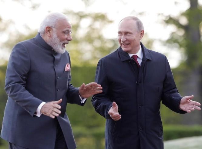 Ngày 2/6/2017, Thủ tướng Ấn Độ Narendra Modi tiến hành hội đàm với Tổng thống Nga Vladimir Putin. Ảnh: Kaixian