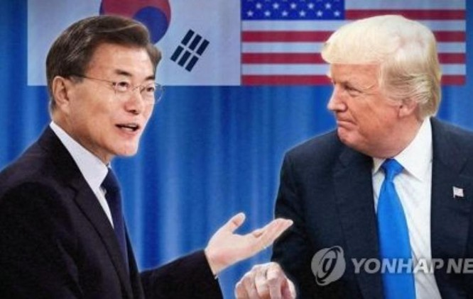 Ngày 30/6/2017, Tổng thống Hàn Quốc Moon Jae và Tổng thống Mỹ sẽ tiến hành hội đàm. Ảnh: Yonhap