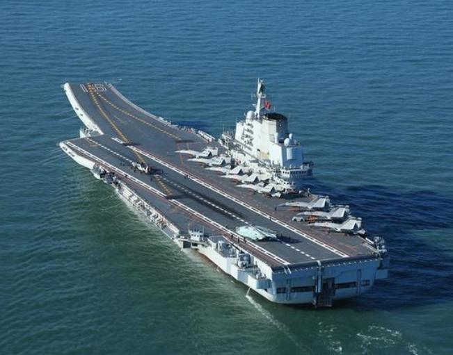 Tàu sân bay Liêu Ninh, Hải quân Trung Quốc. Ảnh: Ifeng