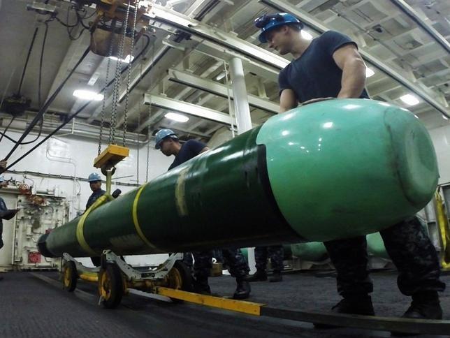 Ngư lôi hạng nặng Mk48 ADCAP có hành trình dài, sẽ trang bị cho tàu ngầm lớp Kiếm Long, Hải quân Đài Loan. Ảnh: Dwnews