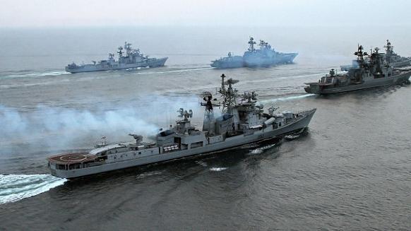 Hải quân Nga tiến hành tập trận.