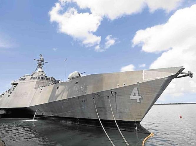 Tàu tuần duyên USS Coronado LCS-4 Hải quân Mỹ. Ảnh: Inquirer Global Nation