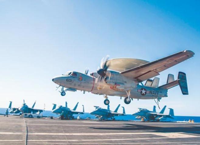 Máy bay cảnh báo sớm E-2C Mỹ. Ảnh: Chinatimes.