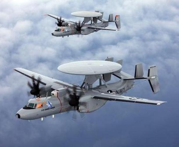 Máy bay cảnh báo sớm E-2D Mỹ. Ảnh: Sina