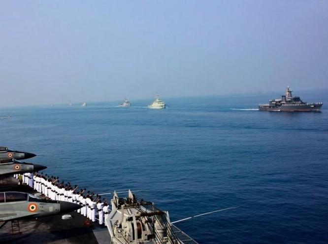 Hạm đội Hải quân Ấn Độ. Ảnh: Cankao