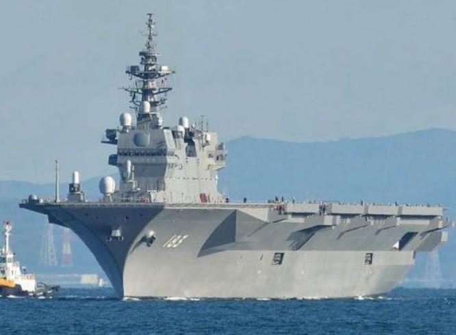 Tàu sân bay trực thăng Izumo của Lực lượng Phòng vệ Biển Nhật Bản. Ảnh: Cankao