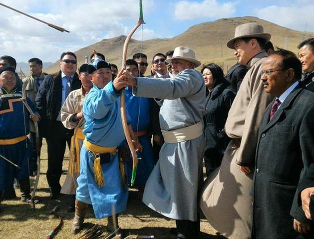Tháng 5/2015, Thủ tướng Ấn Độ Narendra Modi thăm Mông Cổ. Ảnh: Cri Online.